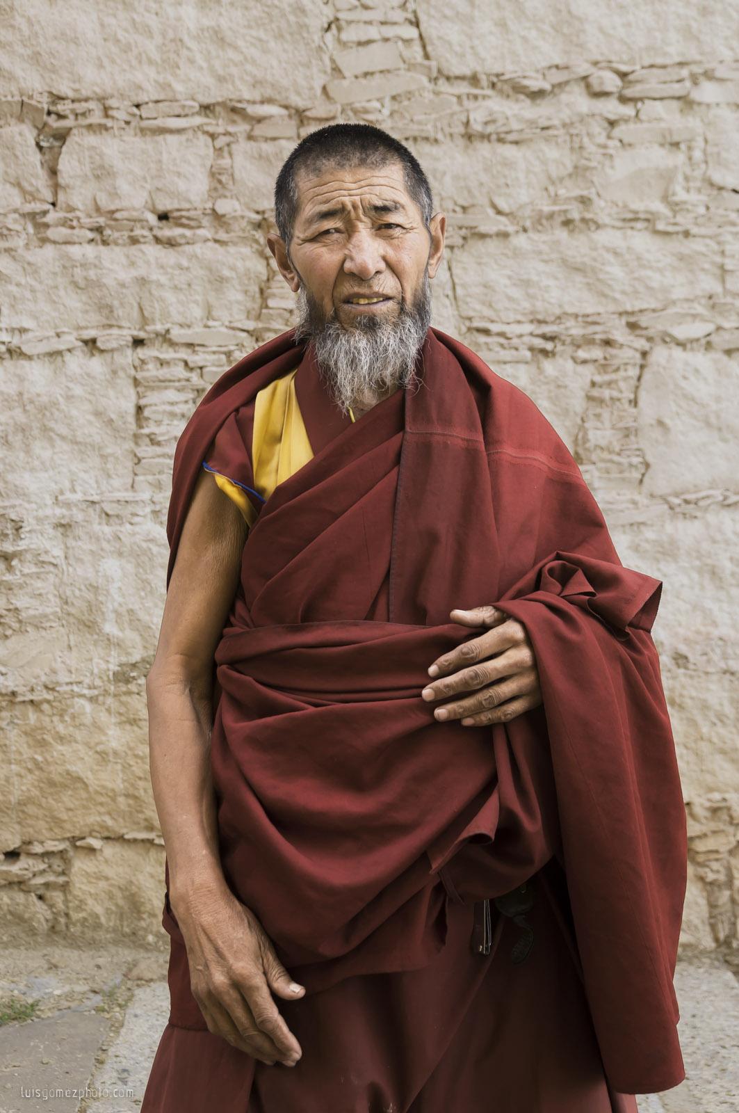 Tibetan old monk