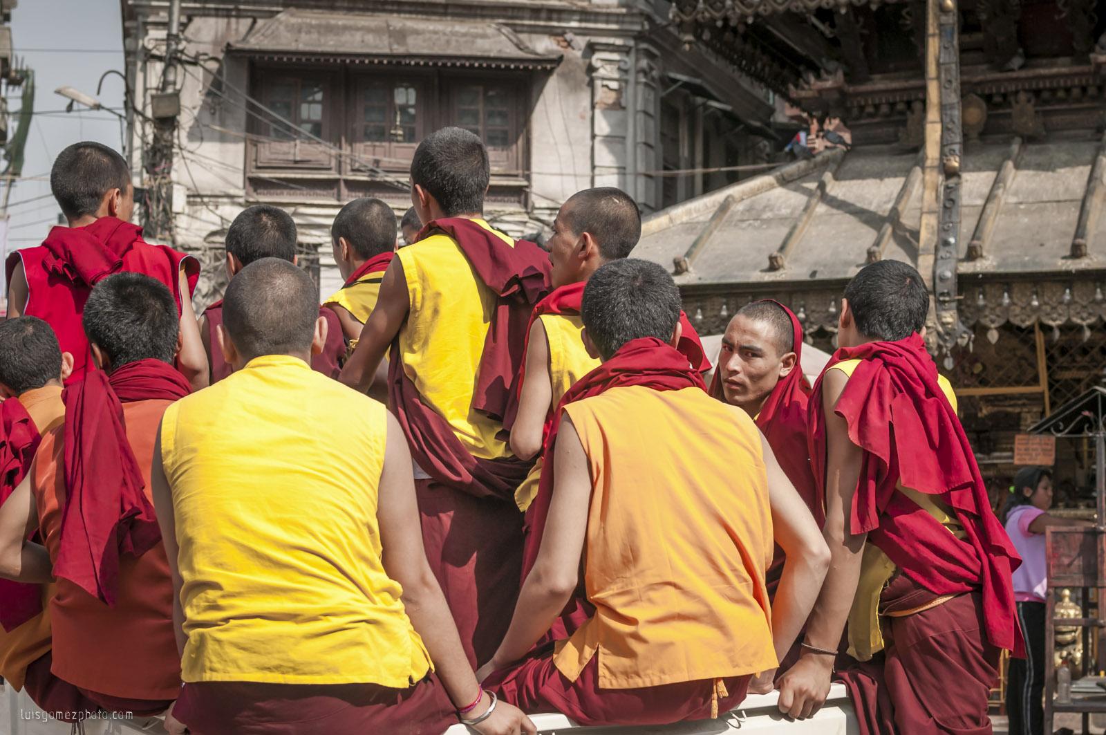 Monks in Thamel